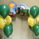 Tractor and Digger birthday balloons
