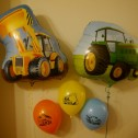 Digger and Tractor Foil and Latex balloons