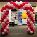 Spiral Arch for Severn Hospice's Midnight Walk Telford
