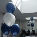 5 Latex Arrangements with Matching Printed Top Balloon
